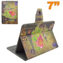 Yonis - Housse tablette 7 pouces étui universel ajustable Big ben Tour Eiffel