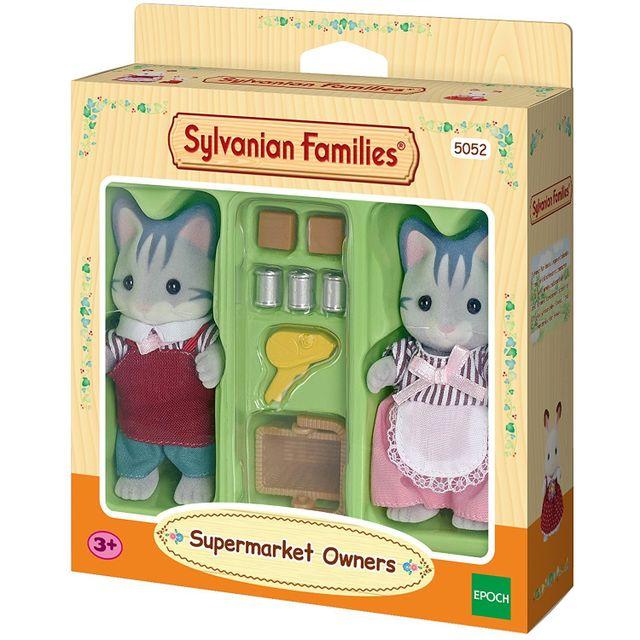 SYLVANIAN FAMILIES Chats Gris Commerçants Sylvanian - 5052