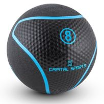 Capital Sports - Rotunder 8 Médecine ball 8kg caoutchouc noir