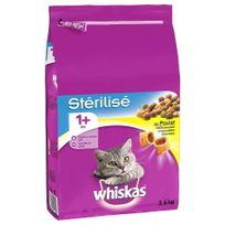 Whiskas - Croquettes au Poulet Stérilisé 1+ pour Chat Stérilisé - 3,6Kg