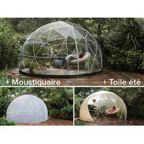 JARDIDECO - Abri de jardin Garden Igloo Hiver + toile été + moustiquaire - 10 m²