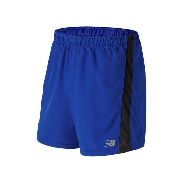 New Balance - Short Accelerate 5 Inch Short bleu noir Multicolour - pas  cher Achat   Vente Collants - RueDuCommerce c42e811824c