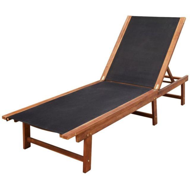 Vidaxl - Chaise longue Bois d'Acacia Brun