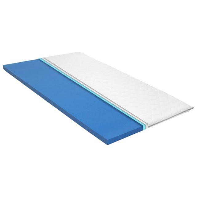 Moderne Protèges-matelas gamme Damas Sur-matelas 80 x 200 cm Mousse à mémoire de forme Visco 6 cm