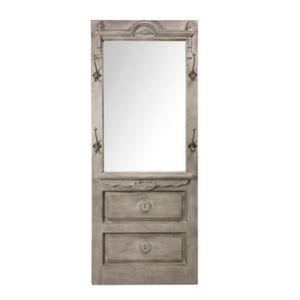 Comptoir de famille miroir d 39 entr e porte manteau en pin for Miroir comptoir de famille
