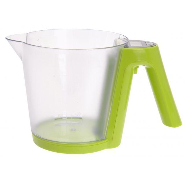 Balance de cuisine digitale avec verre doseur - Vert