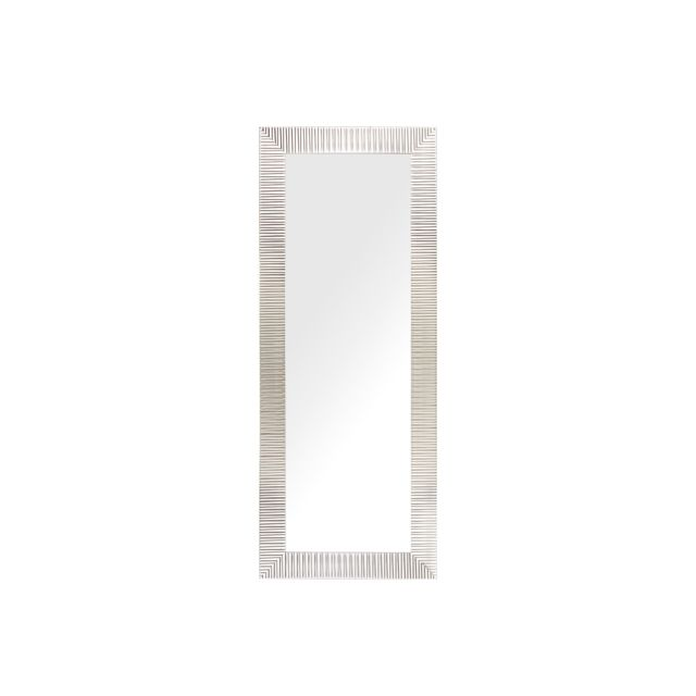 BELIANI Miroir mural argenté 50 x 130 cm DRAVEIL - blanc