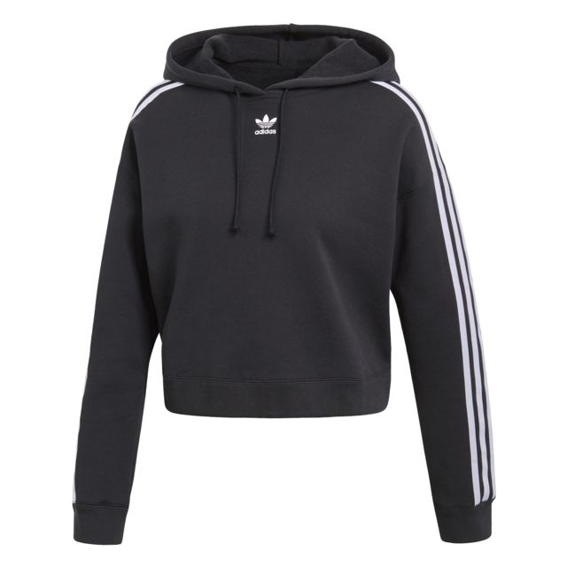 Adidas Hoodie femme Cropped 3 Stripes pas cher Achat
