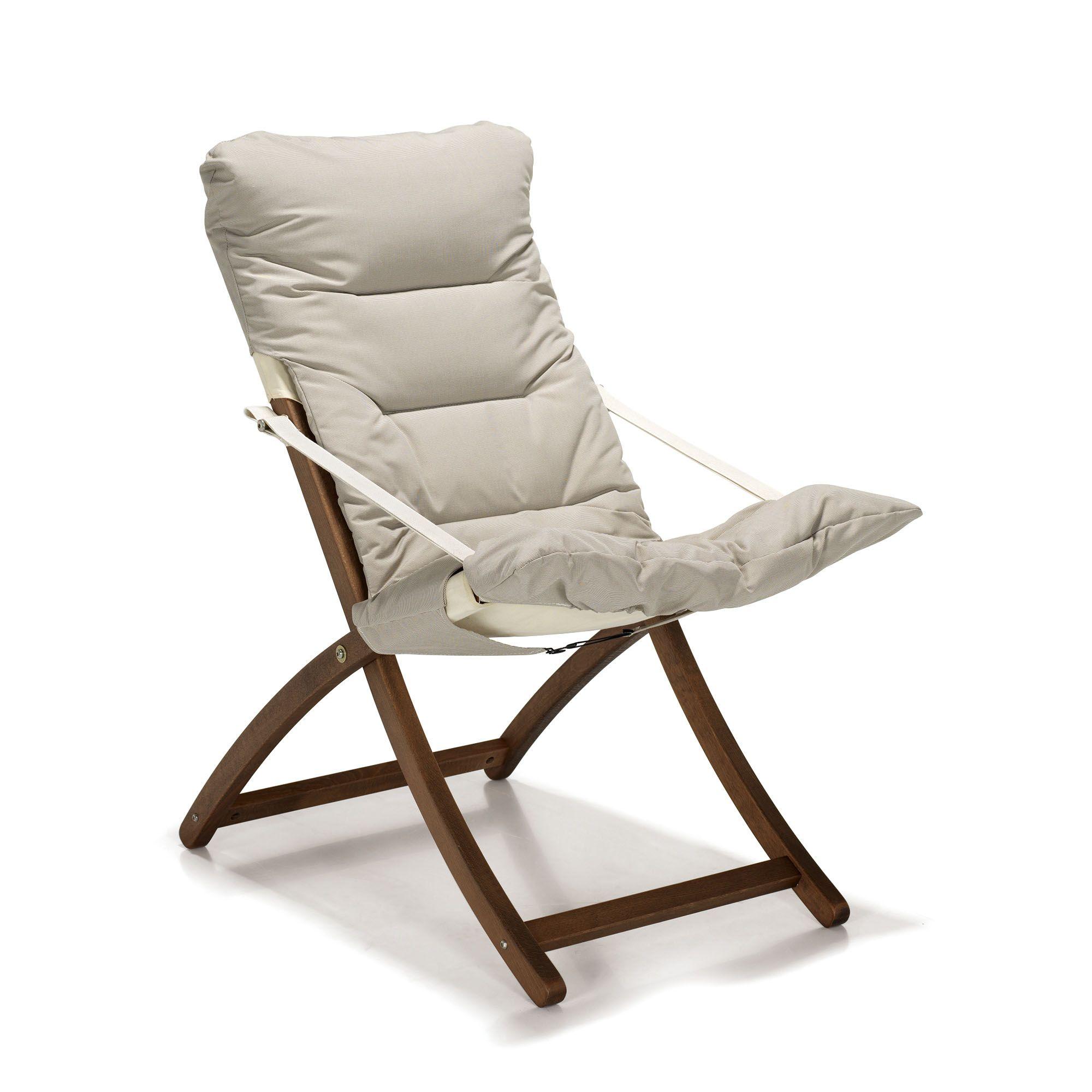 Alin a messana fauteuil de jardin relax pliant rembourr beige pas cher achat vente - Alinea fauteuil jardin ...