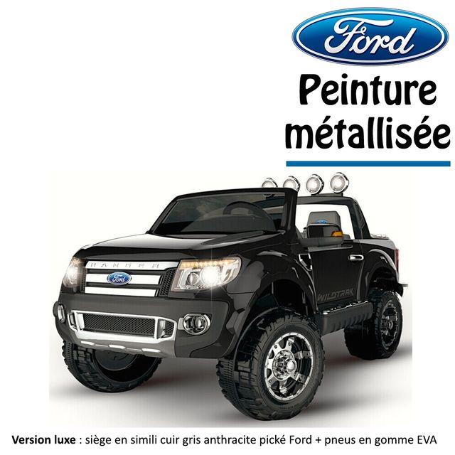 6c4ab50cf70e6 Ford - 4x4 voiture quad électrique enfant Ford peinture métallisée 2 places  12 V Noir version