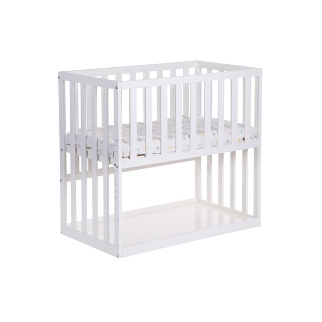 childwood lit cododo ii htre blanc 90cm x 50cm pas cher achat vente structures de lit rueducommerce - Lit Cododo