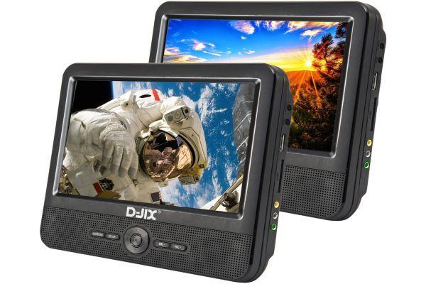 D-JIX Double Lecteur DVD portable 9''+  supports appui-tête - D-JIX_PVS906-70DP - Noir