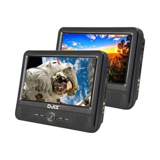 Double Lecteur DVD portable 9''+  supports appui-tête - D-JIX_PVS906-70DP - Noir