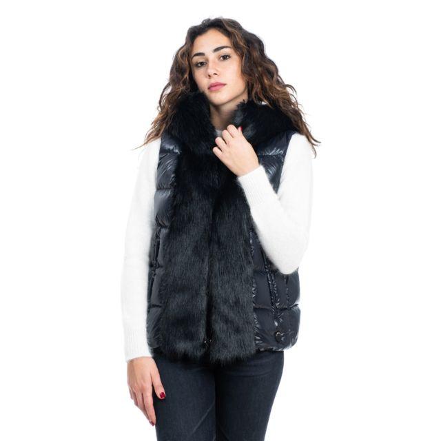 Geospirit Femme Ged084402140184NER Noir Polyester Gilet