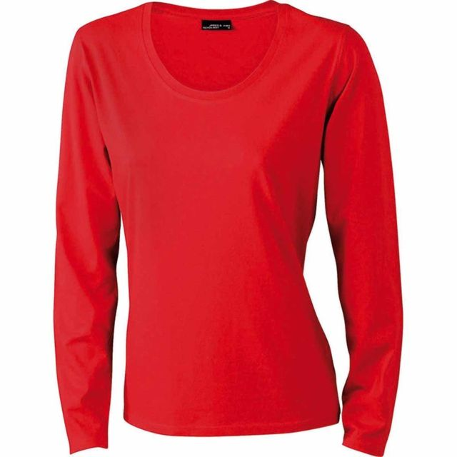 490b8dd9a4cbe James   Nicholson - T-shirt femme manches longues - Jn903 - Rouge - pas  cher Achat   Vente Tee-shirts, tops - RueDuCommerce