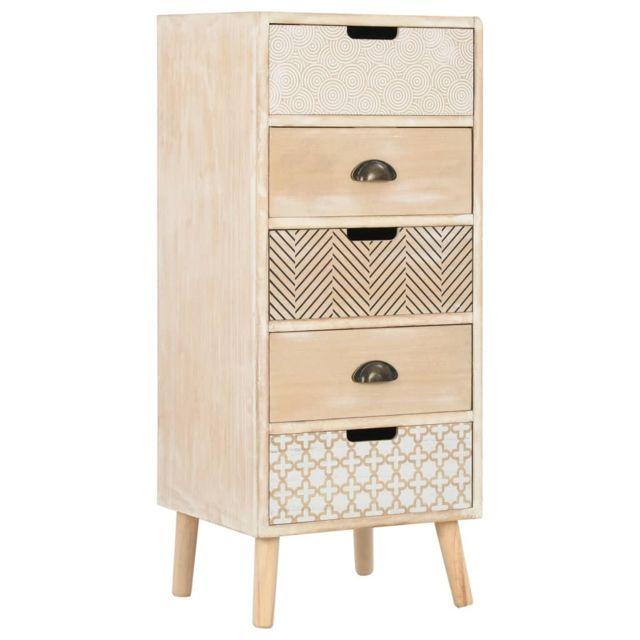 MARQUE GENERIQUE Admirable Armoires & meubles de rangement reference Ottawa Commode à 5 tiroirs 40 x 35 x 95,5 cm
