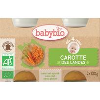 Babybio - Pots Carotte dès 4 mois