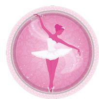 Amscan - Assiettes Danseuse Ballerine x8