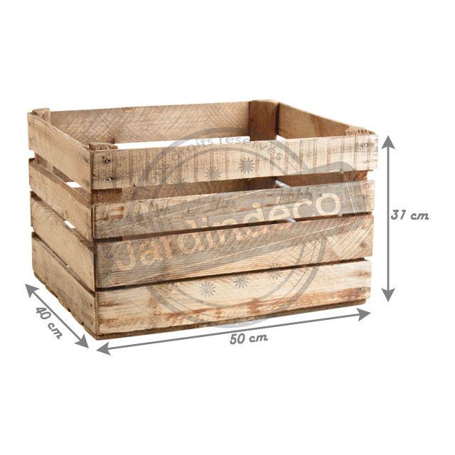 AUBRY GASPARD - Caisse en bois rustique Multicolore