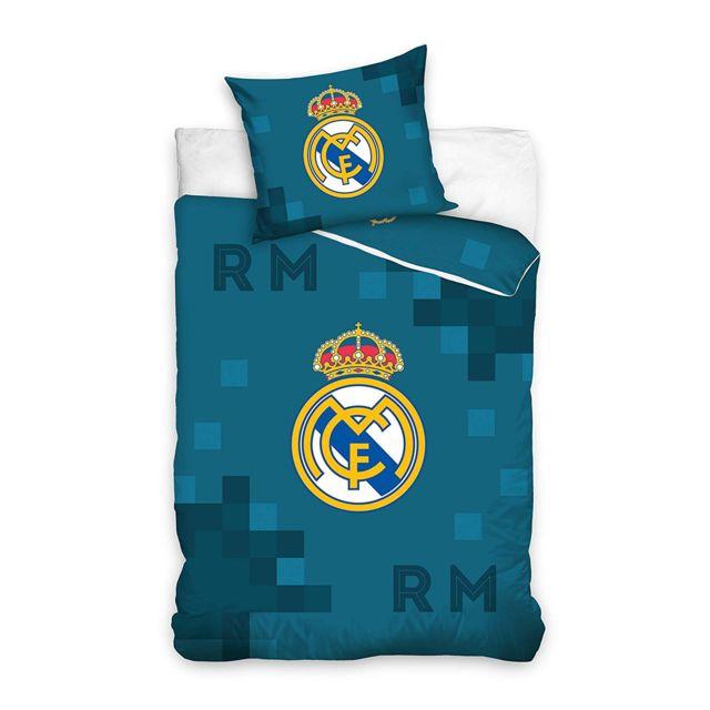 Bebe Gavroche Parure de lit Real Madrid bleu 100% coton 140 x 200 cm