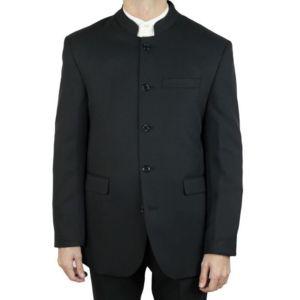 kebello veste homme col mao noir pas cher achat. Black Bedroom Furniture Sets. Home Design Ideas