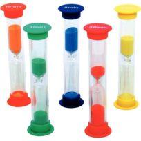 Henbea - sabliers 30 secondes-1-3-5-10 minutes - set de 5