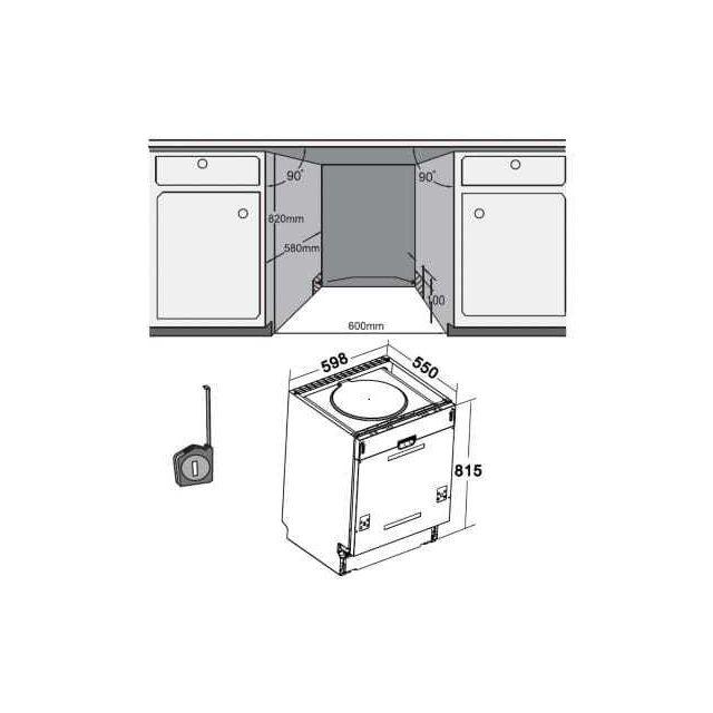 LISTO - Lave-vaisselle intégrable 60cm LVI47 L1I