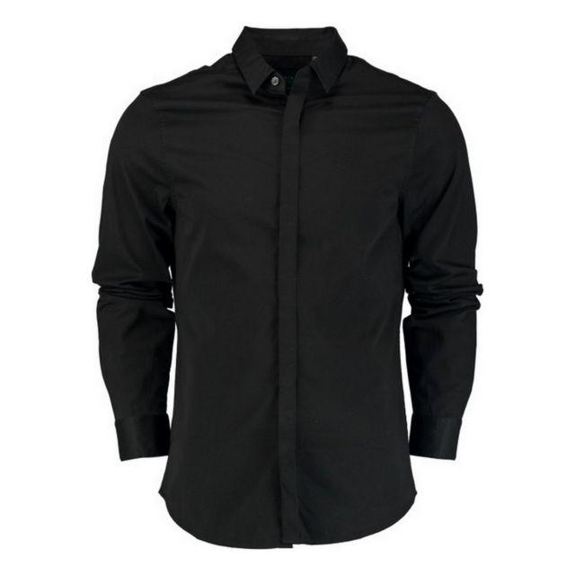 Armani Ea7 Chemise manches longues stretch Chemise Ml Noir