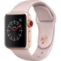 Watch 3 Cellular 38 - Alu or / Bracelet Sport rose des sables