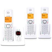 ALCATEL - téléphone sans fil trio dect avec répondeur gris/blanc - f530 voice trio gris