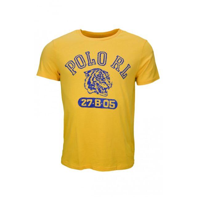 T shirt jaune pour homme