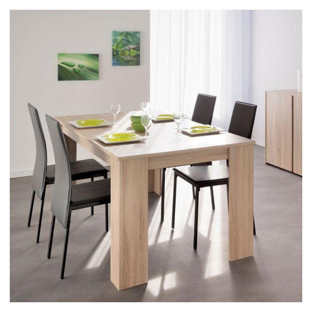 Dansmamaison Table de repas rectangulaire à allonge - Nakran - L 160 / 205 x l 88 x H 78 cm