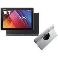 ZenPad Z300M - 10,1'' IPS - 16 Go - Wifi - Noir + Etui rotatif Blanc pour ZenPad 10