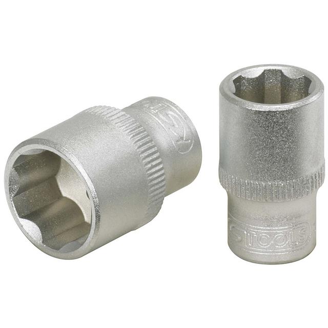l.37 mm KS Tools 922.1490 Douille tournevis ultimate fente 1//4 Chrome satin/é 7 mm