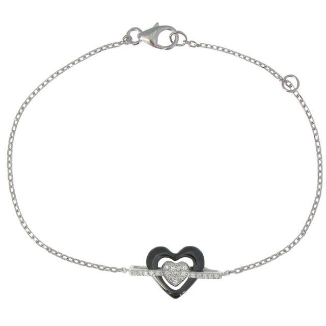 bracelet femme argent coeur