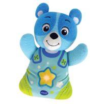 VTECH - Peluche veilleuse Mon ourson à merveilles : Bleu