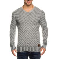 Beststyle - Pull homme gris classe
