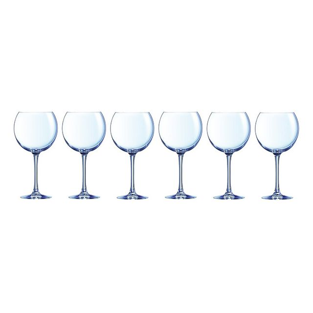 chef and sommelier lot de 6 verres ballon 70cl 46981