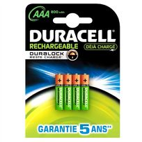 Duracell - Bathr03R - 4 piles rechargeables Aaa-hr03 NiMH