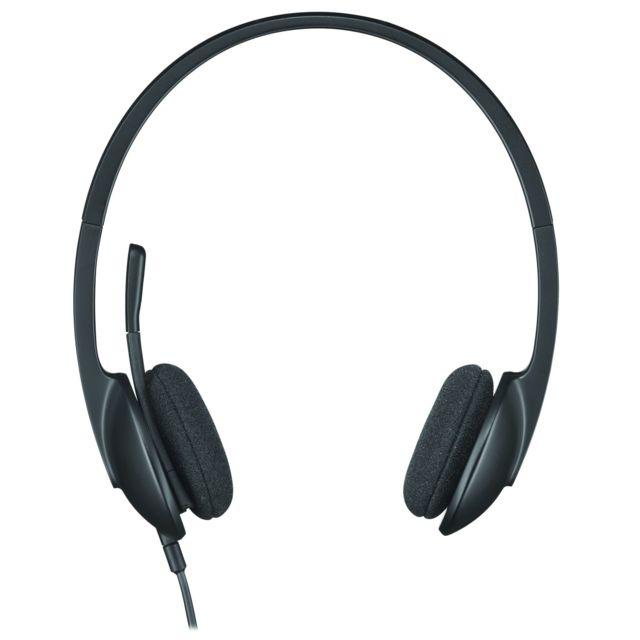 LOGITECH Casque audio filaire H340 - Noir Avec leLogitech USB Headset H340bénéficiez d'un son numérique cristallin et d'un casque USB léger et prêt à l'emploi. Le H340 permet à votre famille et v