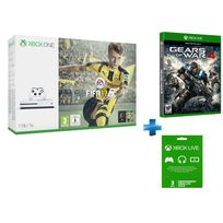 MICROSOFT - Pack Xbox One S 1 To FIFA 17 + GoW 4 + abonnement 3 mois offert