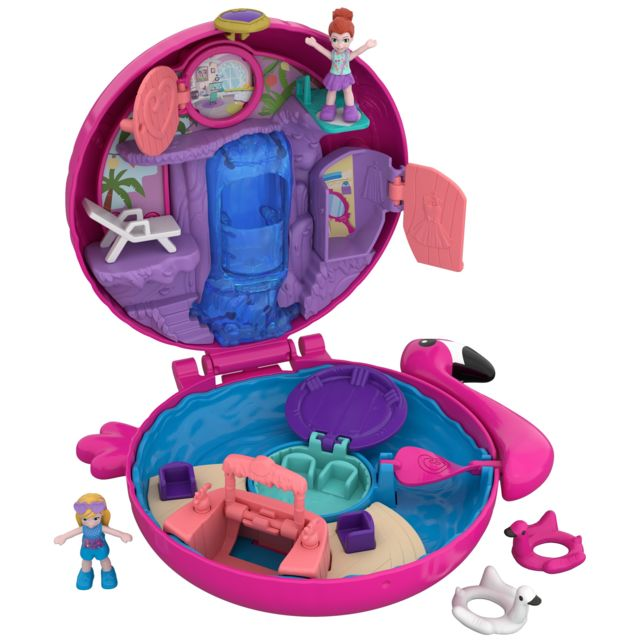 POLLY POCKET Mini-Figurine - La Piscine du Flamant Rose - FRY38