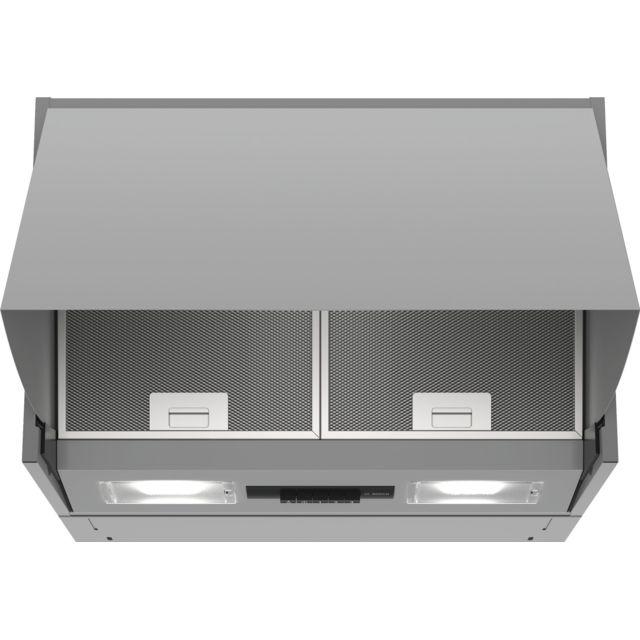 bosch hotte escamotable 60cm 52db 360m3 h silver. Black Bedroom Furniture Sets. Home Design Ideas