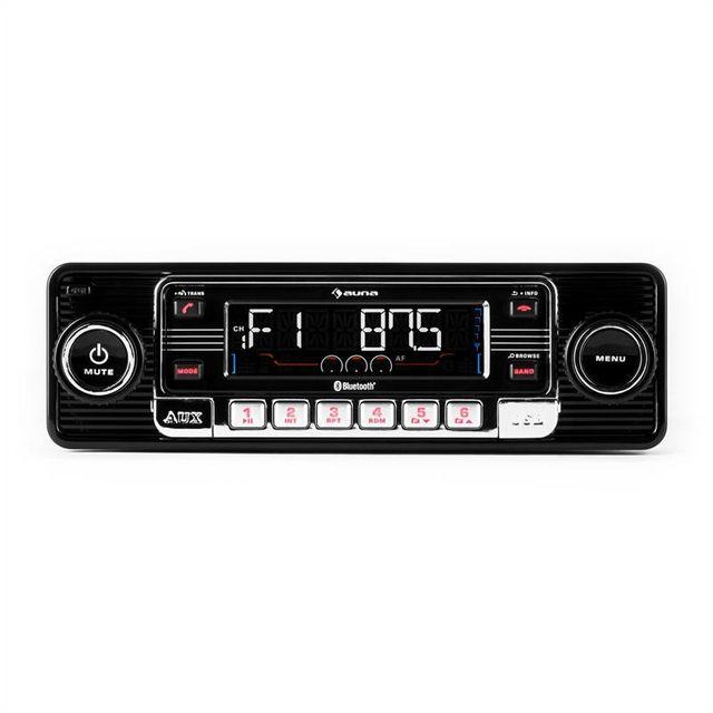 AUNA RMD-Sender-One autoradio Bluetooth USB CD MP3 AUX -noir
