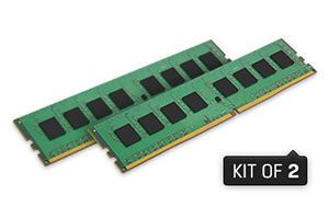 KINGSTON Mémoire ValueRAM 16 Go 2x8 Go, 2133MHz DDR4 Non-ECC CL15 DIMM Kit de 2