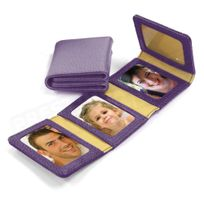 Volumica - Album Photos zig-zag cuir Violet Beaubourg