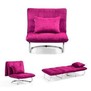 meubler design fauteuil convertible folo convertible une place en velours rose pas cher. Black Bedroom Furniture Sets. Home Design Ideas