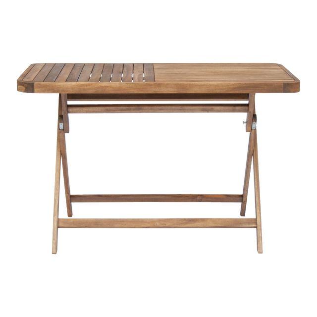 Alinéa - Youk Table de jardin pliante en acacia huilé 2 à 4 ...