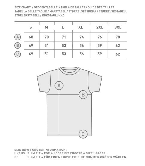 adidas t shirt grobentabelle