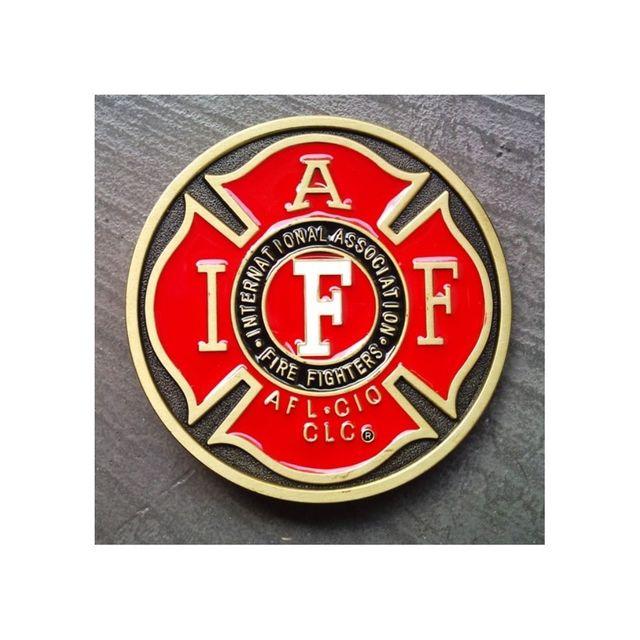 Universel - Boucle de ceinture blason pompier rouge et or homme femme c236ca1465d